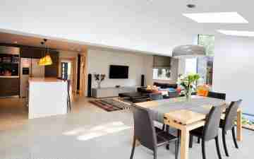 Living room - kitchen - dining